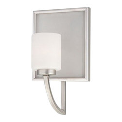 Brushed Nickel 1 Light Bath Wall With Led Nightlight - Condition: New - in box