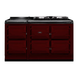 AGA Total Control 5 Oven Range Cooker, Claret |  ATC5-CLT - The new TC5, the latest model in the Total Control series, brings you five large cast iron ovens, two hotplates and a warming plate to deliver incredible capacity and flexibility.