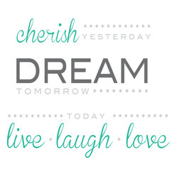 Cherish Dream Live Wall Quote Decals