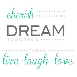 WallPops - Cherish Dream Live Wall Quote Decals - Cherish, Dream, Live is an inspirational wall quote, reminding us to appreciate every moment. Inspire your Decor with wall poetry. These wall words are full of wisdom and beauty, and created with a pretty mix of fonts.