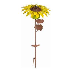 Desert Steel - Sunflower Garden Torch - An outdoor torch for evening entertaining