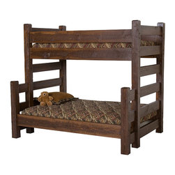 Barnwood Bunk Bed - This bunk bed is made from rough-sawn pine and would fit in perfectly with a prim decor. Can't you just picture this dressed up with a cozy homespun quilt?