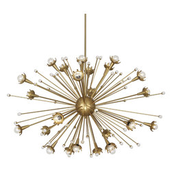 Robert Abbey - Jonathan Adler Sputnik Chandelier - This isn't your grandma's chandelier — well, unless she's Barbarella. An antique brass finish and glittering crystals take this light fixture to the next level.