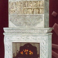 Traditional Fireplaces by Gultas Marble