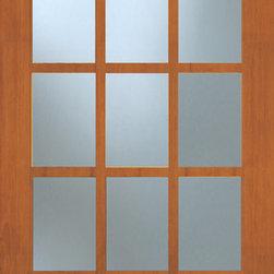 Authentic Wood Doors - Vertical Grain Douglas Fir Glass French Door 15-Lite Clear