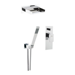Nameeks - Remer by Nameeks Z09S02US Shower Faucet Set with Hand Shower - REMER Z09S02US - Shop for Bathroom from Hayneedle.com! Enjoy the unmatched bathing experience of the Remer by Nameeks Z09S02US Shower Faucet Set with Hand Shower and its stunning modern style. This fine set is finished in a shining chrome that really brings the look together. Its unique faucet flows like a waterfall that is both pleasing to the eyes and the ears. When you want a soothing rinse you can use the convenient hand sprayer that's always within reach. The whole set is made from durable brass and operates with ease with the single handle. Product Specifications: Low Lead Compliant: Yes Eco Friendly: Yes Made in the USA: Yes Handle Style: Lever Valve Type: Ceramic disc Flow Rate (GPM): 1.5 Showerhead Width: 5 inches Showerhead Reach: 9 inches About NameeksFounded with the simple belief that the bath is the defining room of a household Nameeks strives to create a bath that shines with unique and creative qualities. Distributing only the finest European bathroom fixtures Nameeks is a leading designer developer and marketer of innovative home products. In cooperation with top European manufacturers their choice of designs has become extremely diversified. Their experience in the plumbing industry spans 30 years and is now distributing their products throughout the world today. Dedicated to providing new trends and innovative bathroom products they offer their customers with long-term value in every product they purchase. In search of excellence Nameeks will always be interested in two things: the quality of each product and the service provided to each customer.