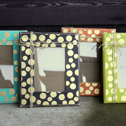 Polka Dots Picture Frame Distressed by Susan Alyse Design