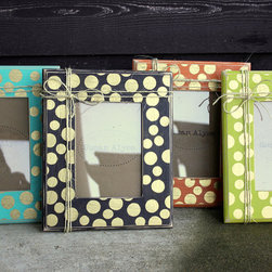 Polka Dots Picture Frame Distressed by Susan Alyse Design - For the Etsy-loving artist, these distressed polka dot frames would be a gift they would be sure to love. How fabulous are those colors?