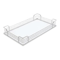 Hafele - Arena Plus Steel Tray - Warranty: One year. Chrome and white plated. Made in Germany. 18.5 in. L x 13.38 in. W x 3.5 in. H (5 lbs.)