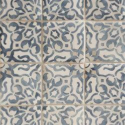 Duquesa Fatima Decorative Field Tile in Mezzanote - Ceramic and Terracotta