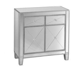 Holly & Martin - Montrose Mirrored Cabinet - Mirror mirror against the wall, who's the fairest cabinet of them all? This glamorous piece is surprisingly agreeable, promising to fit in no matter where you put it and always politely smile back.