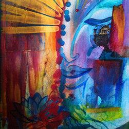 """Shakti"" (Original) By Michael Bond - A Representation Of The Feminine Aspect Of Universal Energy, Shakti. The Image Shows The Rising Of Shakti Energy From Its Kundalini Base."