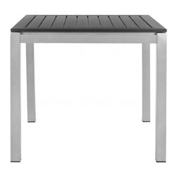 Safavieh - Onika Square Accent Table - Give your outdoor space a contemporary designer look with the Onika square accent table by Safavieh. Rain drains right through its sophisticated black slatted top, which is contrasted with chic aluminum Parsons-style legs. Onika is perfect beside a chair, or as a lamp table on either side of an outdoor sofa.