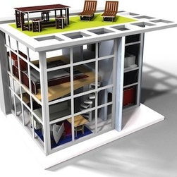Midcentury Modern Dollhouse and Furniture - A dollhouse designed by a toy enthusiast and an architect?  Yes, please.  This is one toy I will not be hiding in the closet.  No, this is the perfect piece to have on display while the kids tinker around.