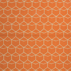 Jaipur Rugs - Abstract Pattern Red /Orange Indoor/ Outdoor Rug - BA07, 5x7.6 - Let's hear it for color! This soft orange beauty is made even easier to mix into your style given its understated pattern. Inspired and inspiring, its polyester weave will wear and clean well for as long as you need.