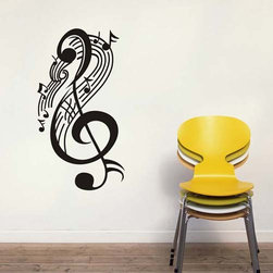 ColorfulHall Co., LTD - Music Wall Decals Large Music Note - Music Wall Decals Large Music Note