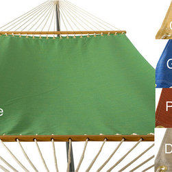 Phat Tommy - PHAT TOMMY Sunbrella Dupione Deluxe Hammock Outdoor Patio Deck Swing - This hammock is made with Sunbrella , the best outdoor acrylic dyed fabric available. Sophisticated style and protection are provided with Sunbrella's tough, long-lasting fabrics that handle the worst Mother Nature can give.