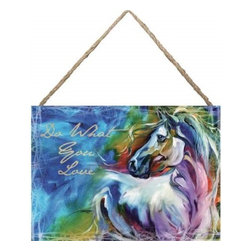 """Westland - """"Do What You Love"""" Cursive Hanging Multicolor Canvas Art with Horse - This gorgeous """"Do What You Love"""" Cursive Hanging Multicolor Canvas Art with Horse has the finest details and highest quality you will find anywhere! """"Do What You Love"""" Cursive Hanging Multicolor Canvas Art with Horse is truly remarkable."""