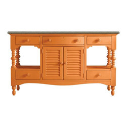 Stanley Furniture - Coastal Living Retreat-Buffet - Oversized without being over scaled, this showstopper is destined to become a contemporary classic. Louvered center doors hide a multitude of sins courtesy of an adjustable shelf. Center drawer conceals a silver liner.
