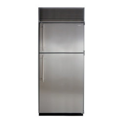 """Marvel - M36TFWSL 36"""" Top Freezer Refrigerator  with Full Extension Glide-Out Clear Crisp - With an automatic ice maker formed metal door bins clear crispers for easy viewing and durable easy-to-clean freezer and refrigerator shelves our top freezer provides you with the best storage for your individual lifestyle All freezers feature our Fr..."""