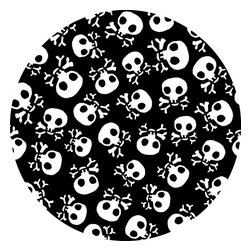 """WallPops - Argh Pirates Dots Wall Decal - Covered in fierce but friendly skull and crossbones design, these pirate theme wall decals are super fun for kids decor. The on-trend design and playful pop of black and white will just the right touch of swashbuckling style to your child's walls. Argh Pirates Dots come with four 13"""" x 13"""" sheets. WallPops are always repositionable and removable."""