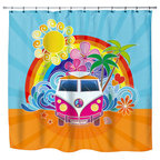 Beach Themed Shower Curtain Design Ideas, Pictures, Remodel and Decor