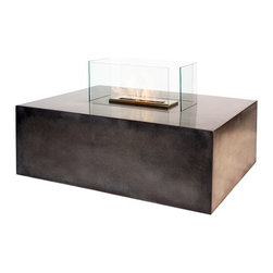 """Bioflame Blocco 17000BTU 16"""" Burner Freestanding Fireplace - 70764001Features: - 17,000BTU - 5.0Kw/h (heats on average 69m2 or 742ft2) - Concrete Base - Available in Charcoal (Brown) Color - 8mm Tempered Glass - 16"""" Burner  - H 17"""" (356mm) W 36.0"""" (914mm) D 48.0"""" (1219mm)3298aFuelWant to know something sweet about the ethanol fuel used in Bio Flame fireplaces? It's all based on sugars!That's right, the Bio Flame ethanol fuel is so environmentally friendly that it is created through a fermentation process of sugars, including those from sugar cane, corn, beets, and potatoes. These natural, all-reable resources work together to create an ethanol fuel source that provides not only heat, but a beautiful, dancing flame, as well.Some of the additional benefits of using the Bio Flame ethanol fuel include:Environmentally friendly. Ethanol fuel is all-natural and made from reable resources. This means that you are not cutting down valuable trees that take much longer to regenerate.Better breathing. There is no air pollution with the Bio Flame ethanol fuel. This means that you, as well as everyone else, help to keep chemicals and toxins from being released into the air. You will breathe better in your home, and everyone else benefits from the reduction of pollutants, as well. There's no odor or smoke to worry about, either, providing you with a safe flame.Cleaner source. Ethanol fuel creates a clean heat source, eliminating the need to worry about cleaning soot or ash. Cleaning the Bio Flame fireplace is a breeze.Super simple. The ethanol fuel used in the Bio Flame fireplace is simple to use. Within seconds, you will have it refilled, never having to worry about spills or trekking out into the cold weather for another log.The Bio Flame environmentally friendly fireplaces use ethanol fuel, because it provides a better heat choice for you, and for everyone else. You never compromise on having a beautiful-looking fireplace, warmth, and a beautiful flame. Ethanol fuel provides al"""