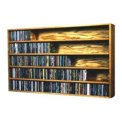 CD Racks - Solid Oak Wall or Shelf Mount CD Cabinet - Handcrafted by the Wood Shed from durable solid oak hardwood