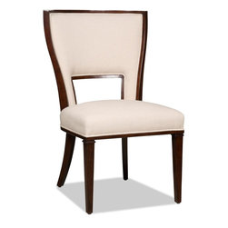 """Hooker Furniture - Hooker Furniture Dining Armless Chair - Bring pizzazz to your dining room with the Lindy Natural Dining Chairs . Lindy Natural Fabric Content: 92% Polyester, 8% Linen. Dimensions: 23""""W x 27.25""""D x 39.75""""H."""