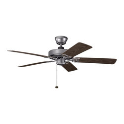 "Kichler Lighting - Kichler Lighting 339520WSP Sterling Manor Patio 52"" Indoor/Outdoor Transitional - Kichler Lighting 339520WSP Sterling Manor Patio 52"" Indoor/Outdoor Transitional Ceiling Fan"