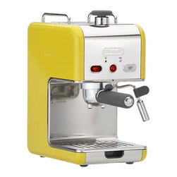 DeLonghi® kMix Pump Espresso Maker - A yellow espresso machine! Who needs caffeine when you wake up to this bright yellow machine in your kitchen?