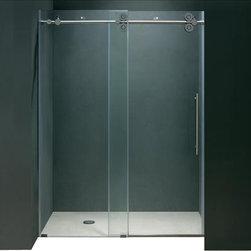 Vigo - VIGO VG6041CHCL4874 Shower Door Hardware - Make your bathroom an oasis with a VIGO frameless round shower enclosure.