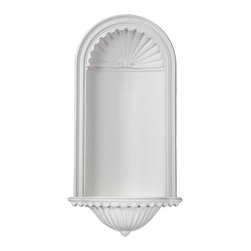 uDecor - NC-4045 Niche - Niches are perfect for displaying a favorite statue or vase while adding interesting architectural elements to any area of a room. Our surface mount niches don't require any modification to existing structure to be installed while our traditional niches will need to have space cleared behind them.