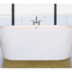 "Aquatica - Aquatica Purescape 014 Freestanding Acrylic Bathtub - White Multiple Sizes - Treat yourself and soak in peaceful tranquility with Aquatica's stylish and ergonomic PureScape 014 freestanding bathtub. Aquatica challenges everything we thought we knew about a bathtub with the world-class modern design and ergonomic features that are incorporated into all of their luxury tubs. Aquatica Purescape bathtubs are as pleasing to the eye as they are to soak in. Their striking visual appeal adds a mesmerizing modern elegance to any bathroom. From the finest selection of raw materials all the way to the high-class design, Aquatica has spared no expense to innovate and create some of the highest quality bathtubs in the world.FEATURES:Striking upscale modern designFreestanding constructionSolid, one-piece construction for safety and durabilityExtra deep, full-body soakErgonomic design forms to the body's shape for ultimate comfortQuick and easy installationConstructed of 8mm thick 100% heavy gauge sanitary grade precision acrylicPremium acrylic and tub thickness provides for excellent heat retentionHigh gloss white surfaceColor is consistent throughout its thickness not painted onColor will not fade or lose its brilliance overtimePreinstalled cable drive pop up and waste-overflow fitting includedDesigned for one or two person bathingNon-porous surface for easy cleaning and sanitizingBuilt-in metal base frame and adjustable height metal legsChrome plated drainAvailable in several sizes to fit your space5 Year Limited WarrantyTested and found compliant with CSA B45 and ANSI Z124 (American National Standards Institute), Code compliant with American standard 1.5"" waste outletsSpecifications014A Dimensions: 59 in. L X 29.5 in. W X 23.25 in. H 014B+ Dimensions:65 in. L X 31.75 in. W X 23.25 in. H014M Dimensions: 63 in. L X 27.5 in. W X 22.75 in. H 014C Dimensions: 67 in. L X 31.5 in. W X 23.25 in. H014D Dimensions: 70.75 in. L X 33 in. W X 23.25 in. H014E Dimensions: 74.75 in. L X 35.5 in. W X 23.25 in. HShape: OvalDrain Placement: CenterSpec Sheet 59"" Bathtub Spec Sheet 65"" Bathtub Spec Sheet 67"" BathtubSpec Sheet 70.75"" BathtubSpec Sheet 74.75"" BathtubSpec Sheet 63"" BathtubNote: This model usually ships in 1-2 days. Please allow an additional 2-3 business days for order transmittal and verification."