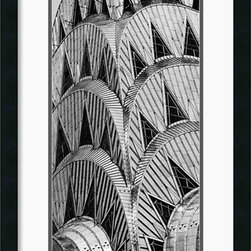 Amanti Art - Chrysler Building Framed Print by Torsten Andreas Hoffman - The Art Deco Chrysler Building take on a sculptural, abstract air in this stunning fine art print by Torsten Andreas Hoffman. The world's tallest brick building, the Chrysler is one of New York City's most renowned structures.