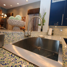 Traditional Kitchen Countertops by Glass Recycled Surfaces