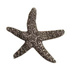 Anne at Home Hardware - Starfish  Knob, Pewter w/ White Wash - Made in the USA - Anne at Home customized cabinet hardware enables even the most discriminating homeowner to achieve the look of their dreams.  Because Anne at Home cabinet hardware is designed to meet your preferences, it may take up to 3-4 weeks to arrive at your door. But don't let that stop you - having customized Anne at Home cabinet knobs and pulls are well worth the wait!   - Available in many finishes.