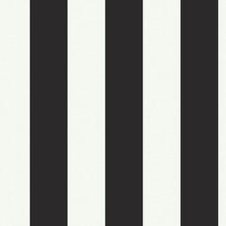 RR - Silk Stripe Black & White Wallpaper - Silk Stripe Black & White Wallpaper