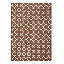 Safavieh - Hugo Hand Tufted Rug, Dark Brown / Ivory 5' X 8' - Construction Method: Hand Tufted. Country of Origin: India. Care Instructions: Vacuum Regularly To Prevent Dust And Crumbs From Settling Into The Roots Of The Fibers. Avoid Direct And Continuous Exposure To Sunlight. Use Rug Protectors Under The Legs Of Heavy Furniture To Avoid Flattening Piles. Do Not Pull Loose Ends; Clip Them With Scissors To Remove. Turn Carpet Occasionally To Equalize Wear. Remove Spills Immediately. Bring classic style to your bedroom, living room, or home office with a richly-dimensional Safavieh Cambridge Rug. Artfully hand-tufted, these plush wool area rugs are crafted with plush and loop textures to highlight timeless motifs updated for today's homes in fashion colors.