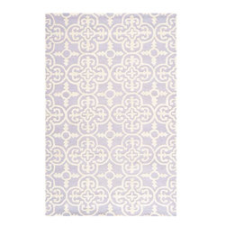 Safavieh - Marigot Hand Tufted Rug, Lavander / Ivory 6' X 9' - Construction Method: Hand Tufted. Country of Origin: India. Care Instructions: Vacuum Regularly To Prevent Dust And Crumbs From Settling Into The Roots Of The Fibers. Avoid Direct And Continuous Exposure To Sunlight. Use Rug Protectors Under The Legs Of Heavy Furniture To Avoid Flattening Piles. Do Not Pull Loose Ends; Clip Them With Scissors To Remove. Turn Carpet Occasionally To Equalize Wear. Remove Spills Immediately. Bring classic style to your bedroom, living room, or home office with a richly-dimensional Safavieh Cambridge Rug. Artfully hand-tufted, these plush wool area rugs are crafted with plush and loop textures to highlight timeless motifs updated for today's homes in fashion colors.