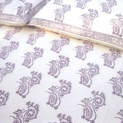 Tilonia Home: King Duvet Set - Fancy Paisley in Plum