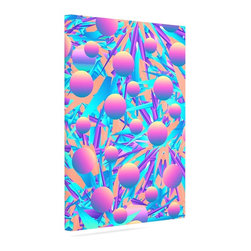 "Kess InHouse - Danny Ivan ""Blind Face"" Blue Pink Wrapped Art Canvas (8"" x 10"") - Bring your outdoor patio to life with this artistic outdoor canvas wrap featuring gorgeous artwork by KESS InHouse. These canvases are not only easy to hang and remove but also are the perfect addition to your patio collection. These canvases are stretched around a wooden frame and are built to withstand the elements and still look artistically fabulous. Decorating your patio and walls with these prints will add the splash of art and color that is needed to bring your patio collection together! With so many size options and artwork to choose from, there is no way to go wrong with these KESS Canvas Wraps!"