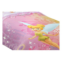 Franco Manufacturing Company Inc - Disney Fairies Tinkerbell Whimsy Twin Bed Comforter - Features: