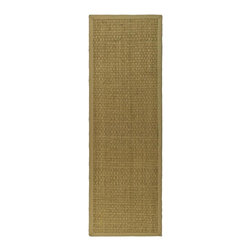 Safavieh - Natural Fiber Rug (14 ft. x 2 ft. 6 in.) - Size: 14 ft. x 2 ft. 6 in. Traditional style. Power loomed. Hand-woven. Soft and durable. Made from sisal and natural sea grass. Natural and beige color. This densely woven rug will add a warm accent and feel to any home. The 100-percent cotton canvas backing adds durability. Care Instructions: Vacuum regularly. Brushless attachment is recommended. Avoid direct and continuous exposure to sunlight. Do not pull loose ends; clip them with scissors to remove. Remove spills immediately; blot with clean cloth by pressing firmly around the spill to absorb as much as possible. For hard-to-remove stains professional rug cleaning is recommended.