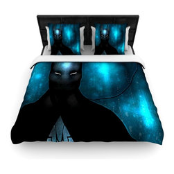"""Kess InHouse - Mandie Manzano """"Dark Knight"""" Fleece Duvet Cover (King, 104"""" x 88"""") - You can curate your bedroom and turn your down comforter, UP! You're about to dream and WAKE in color with this uber stylish focal point of your bedroom with this duvet cover! Crafted at the click of your mouse, this duvet cover is not only personal and inspiring but super soft. Created out of microfiber material that is delectable, our duvets are ultra comfortable and beyond soft. Get up on the right side of the bed, or the left, this duvet cover will look good from every angle."""
