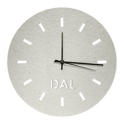 The Felt Store - Dallas Felt Clock - 11.25 Inch, White - The Dallas Felt Clock puts an accent to less being more! This piece would be a wonderful addition to your home, office or studio; a perfect blend of simplicity, contemporary, modern and style. Decorate your wall with your favourite colour, city or with our plain clock to fit your style. This clock features 100 % wool felt, fine grain cork, a Quartz movement and your favourite city! It includes hanging hardware. Dimensions 11.25 inch diameter, 0.25 inch thick.*Product requires assembly upon purchase. This includes removing the cut parts by pushing the letters and notches out of the clock as well as assembling the mechanism. Instructions are included*. This clock can be framed with our circle shelves to create the perfect focal point for your space!