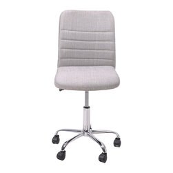 Office Furniture Computer Chair With Febric Cover Comfotable Light Grey Swival S - Product Description: