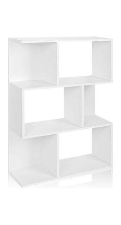 Way Basics - Way Basics Madison Bookcase and Storage, White - This fresh take on a modern bookcase will hold all your stuff in style — and is easy on the environment to boot. It's sustainably made from recycled paper and uses paper dowels to hold the pieces together. But fear not, it's water resistant and each shelf holds up to 20 pounds. Your books, framed photos and decorative objects have never looked so good. Group several together to line an entry wall, library or living room.
