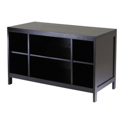 Winsome - Modular Hailey TV Stand - Hailey line of modular furniture, this wood TV stand with 6 open compartments in Espresso finish is designed to stand alone or be paired with other pieces from the collection to create an entertainment, storage and display center.