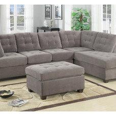poundex 2-Pcs Sectional Sofa By Poundex